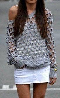 Схема вязания свитера для женщин
