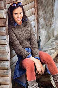 Женский свитер с проймой реглан (описание)