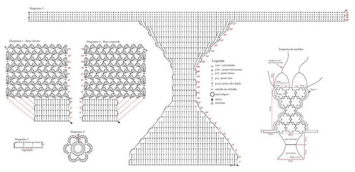 слитный купальник по схеме вязания крючком портал рукоделия и моды