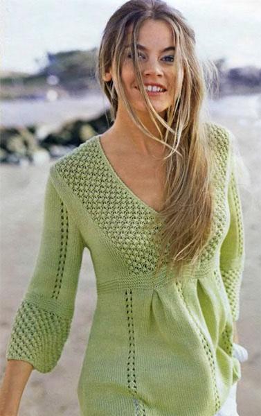 Салатовый пуловер