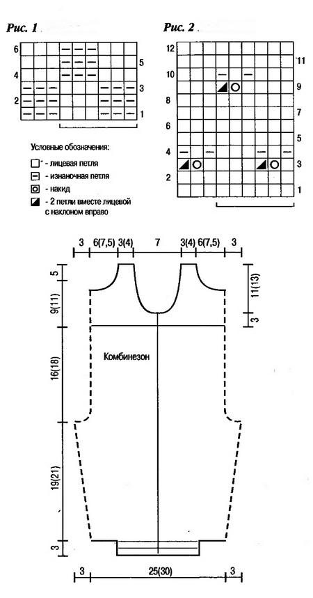 Вязание спицами детский костюмчик схема 716