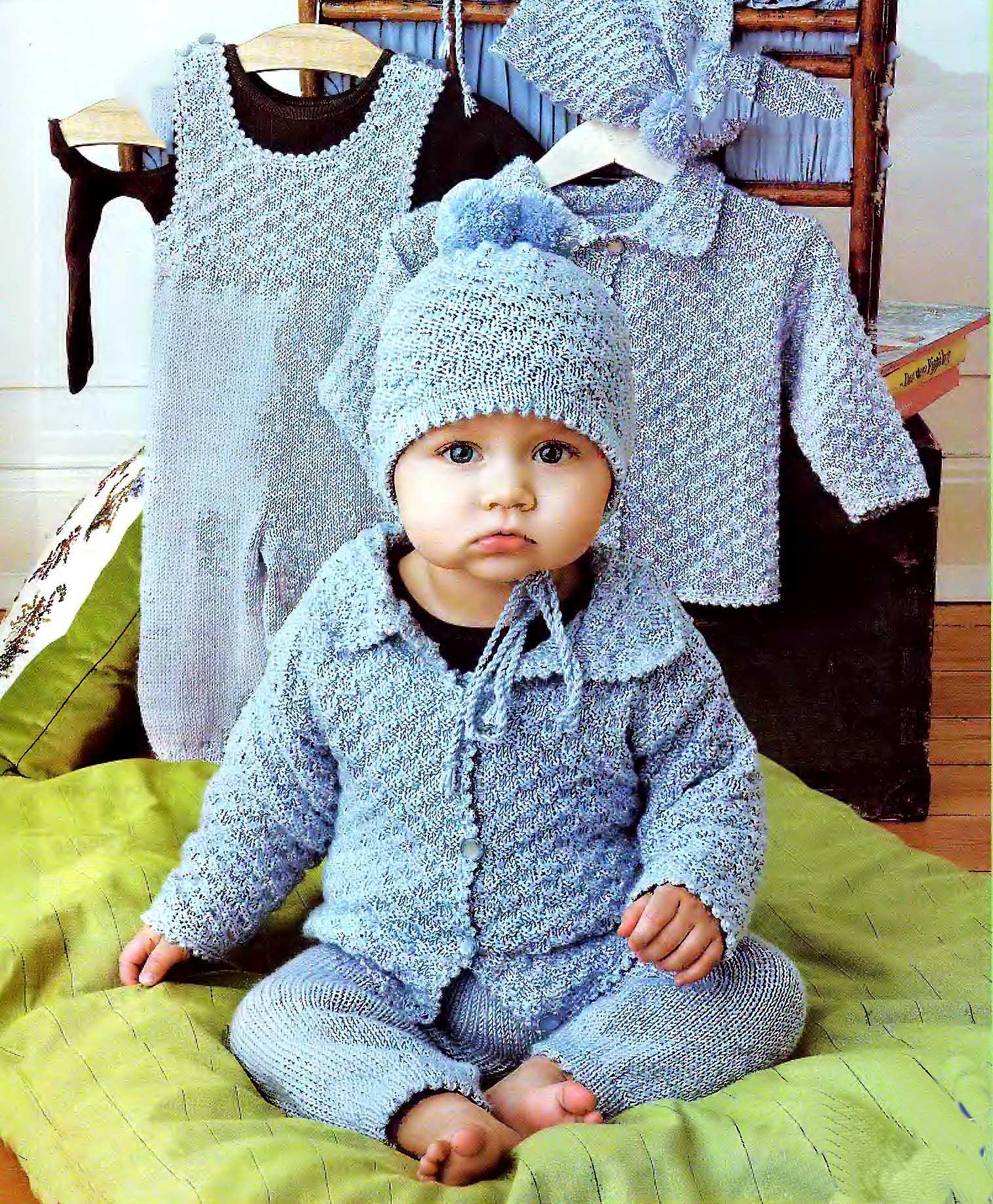Вязание комбинезон на мальчика до года