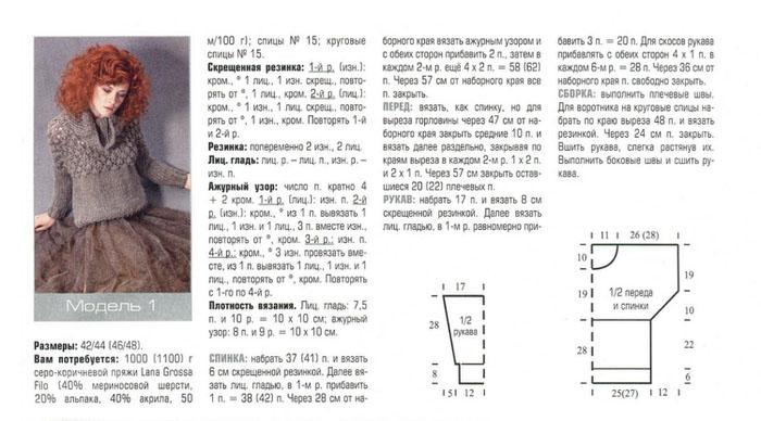 Схемы вязания толстыми нитками спицами 61