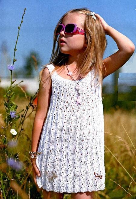вязание крючком платье на 5 лет