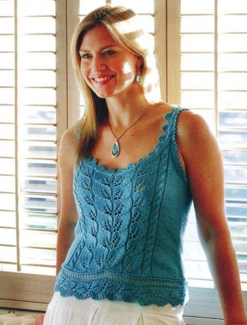 Вязание спицами маечка для женщин