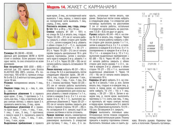 Вязание спицами для женщин модные модели 2018 года с описанием жакеты 17