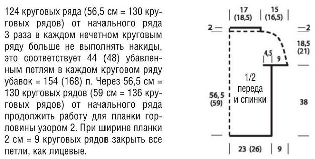 летняя кофточка крючком схема на круглой кокетке