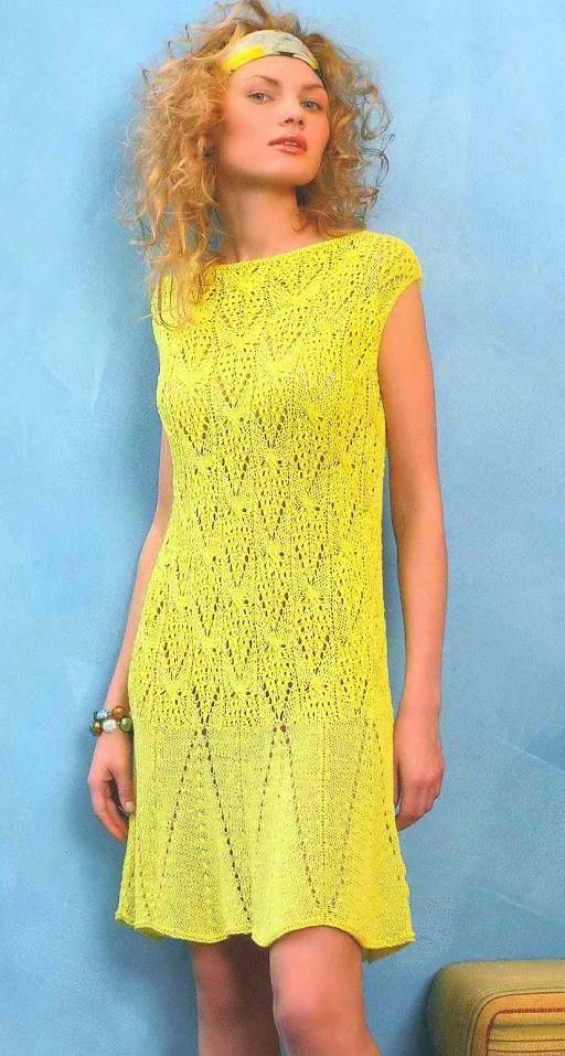Платья спицами в блогах
