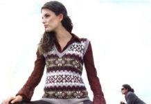 вязание спицами жилеты и безрукавки для женщин в жаккардовой технике