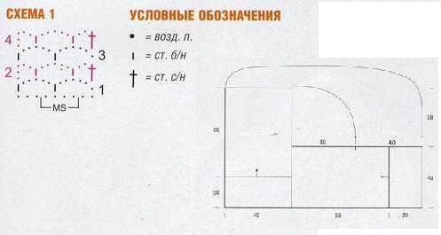 схема вязания пончо крючком бесплатно