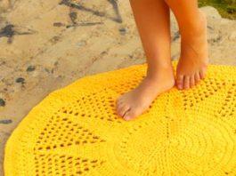 коврик крючком вязание для начинающих
