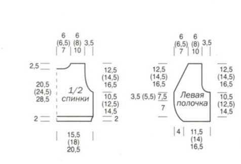 вязание детского жилета спицами схема с описанием