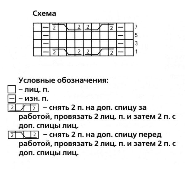 схема вязания носков спицами с описанием