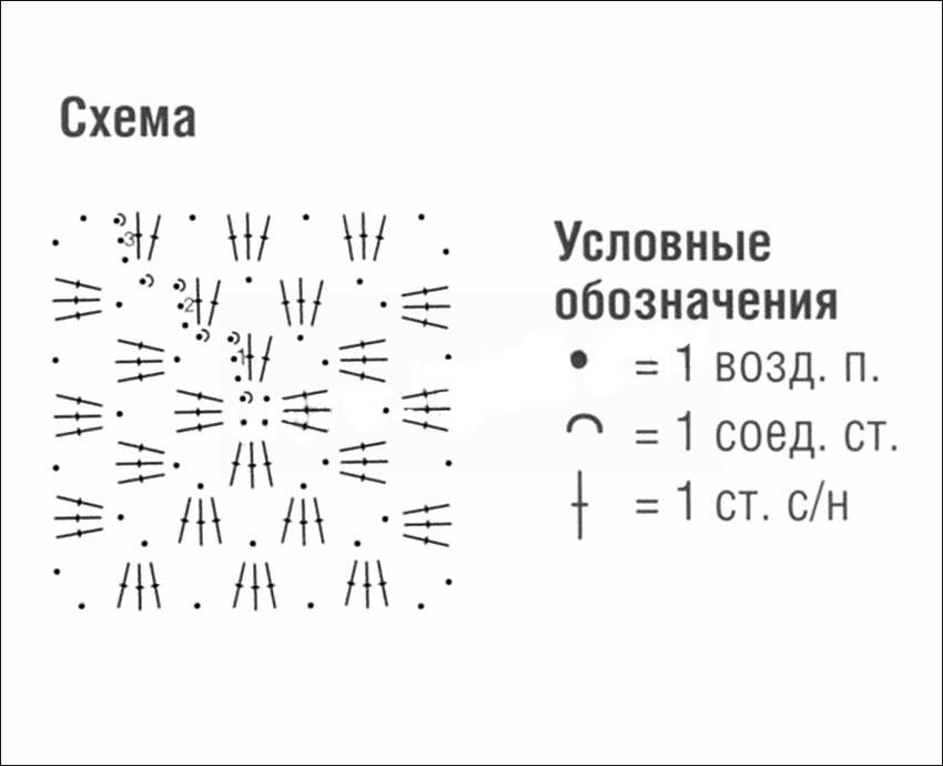 домашние тапочки из мотивов крючком схема вязания с описанием