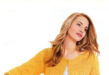 """Жакет спицами с описанием с ажурным узором """"ёлочка"""" схема вязания для женщин"""