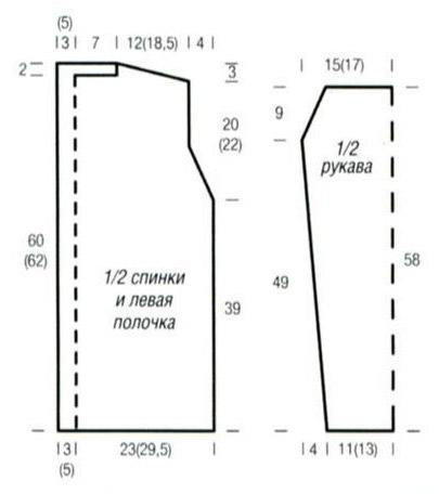 Летний ажурный жакет спицами схема вязания с описанием