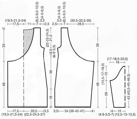 Схема вязания с описанием платья спицами