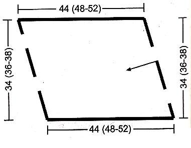 схема вязания с описанием юбки спицами