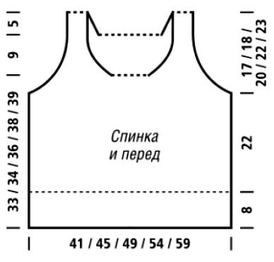 выкройка для вязаного топа спицами с описанием