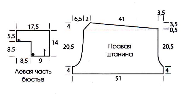 купальник схема вязания для женщин с описанием