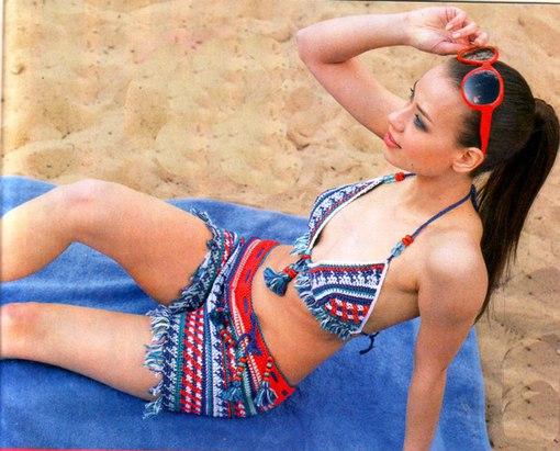 пляжный комплект вязание купальника крючком для женщин