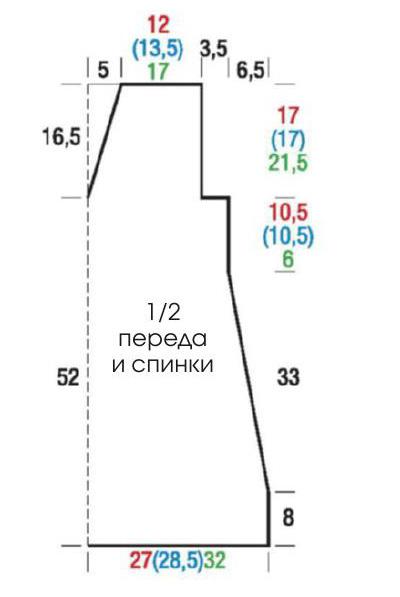 вязаная туника описание вязания