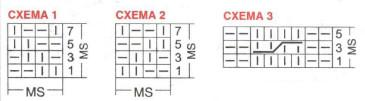 Схема вязания спицами детского джемпера