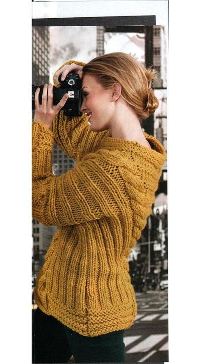 схема вязания пуловера спицами с косами