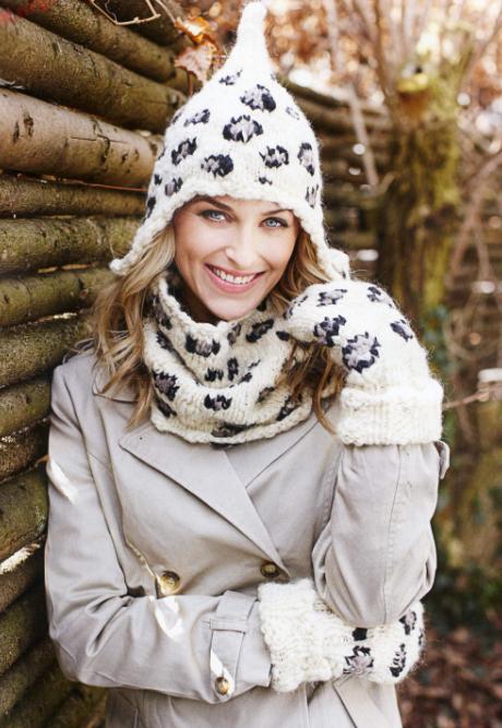 модное вязание спицами шапки ушанки