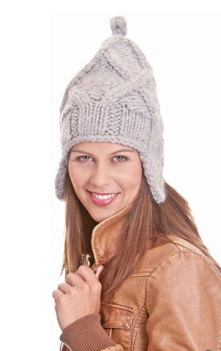 шапка ушанка спицами схема вязания с описанием