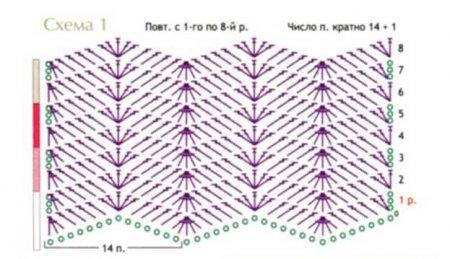 схема вязания топа с открытой спинкой крючком