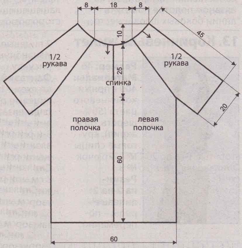схема вязания и выкройка жилета для полных женщин