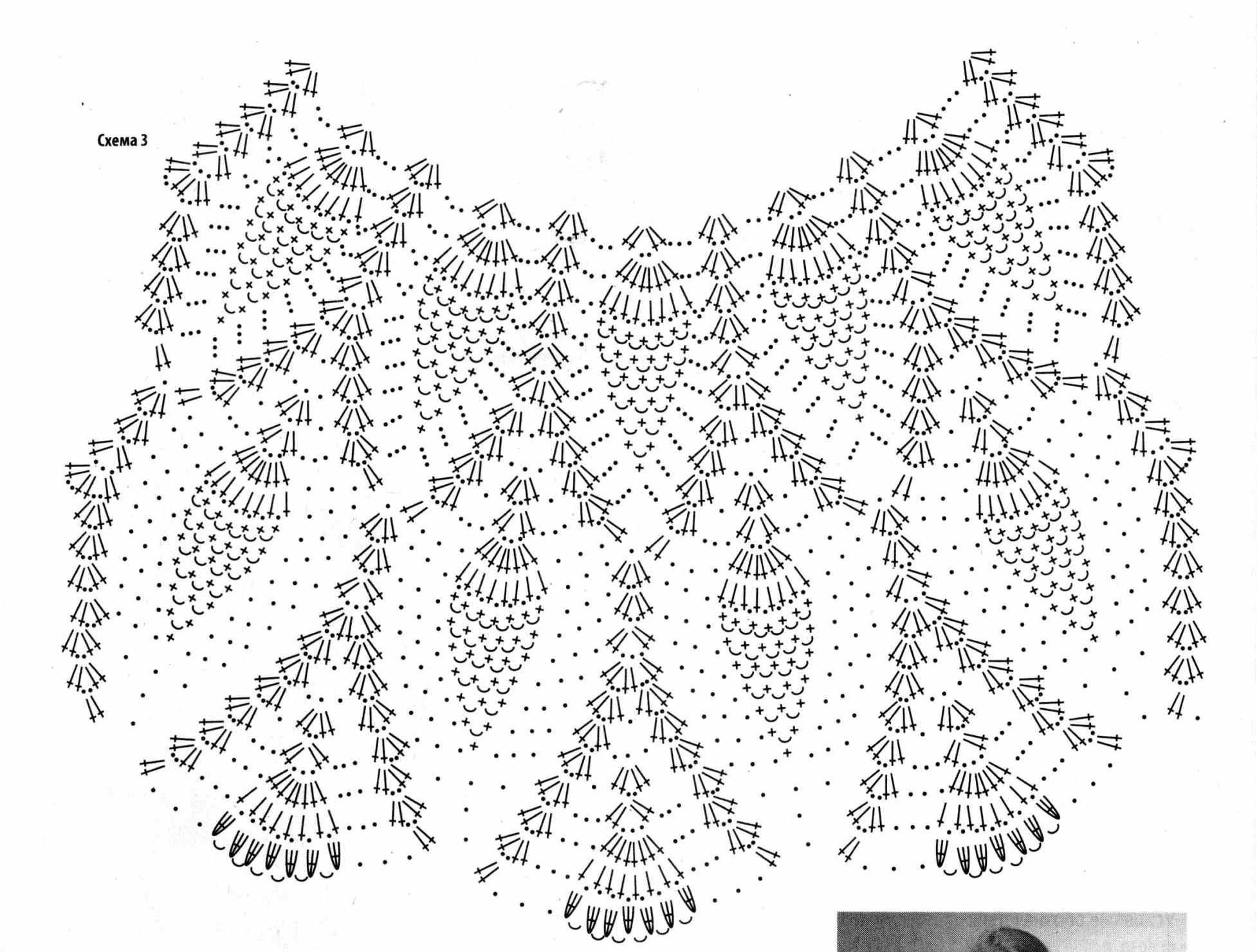 Вязание крючком платье ананасами для девочки крючком 81