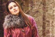 кардиган для женщин спицами с узором из кос