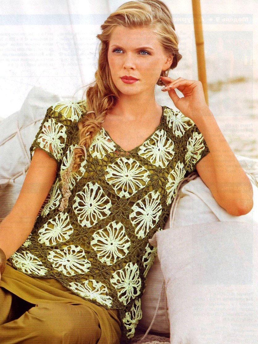 Вязание моделей для женщин из мотивов