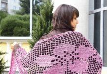 описание вязания шали для женщин крючком схема бесплатно