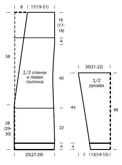схема вязания кардиганов спицами