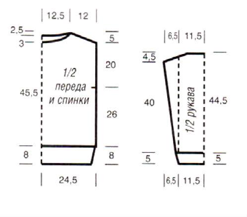 описание вязания объемнго свитера спицами с узором из кос