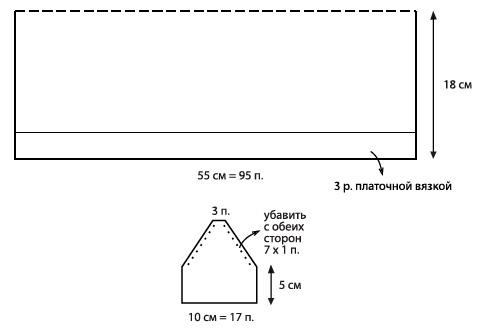 схема вязания шапки ушанки для женщин с описанием