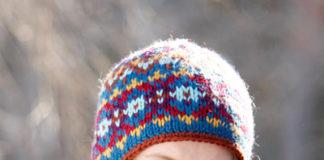 вязание шапочки в жаккардовой технике