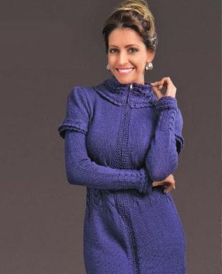 Вязаное платье на молнии