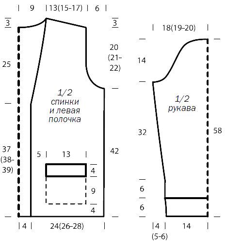 Свободный кардиган спицами с накладными карманами схема вязания с описанием для женщин бесплатно