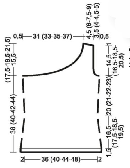 Стильный топ спицами на одно плечо схема вязания спицами с писанием