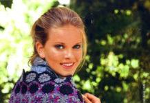 Разноцветная шаль из мотивов крючком для женщин