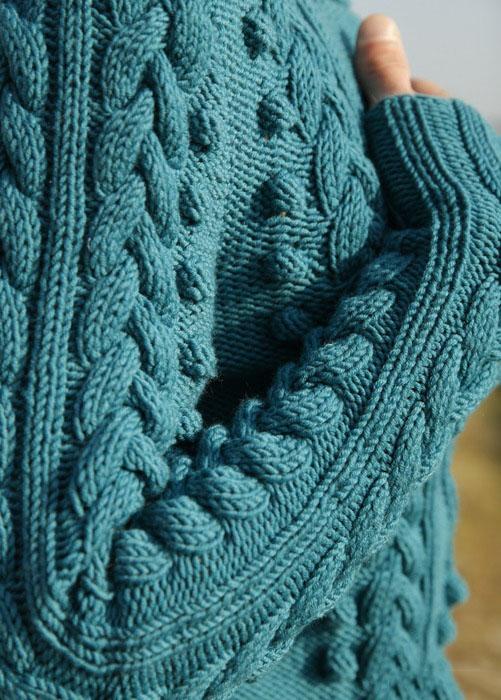 Узор из кос для пуловера спицами
