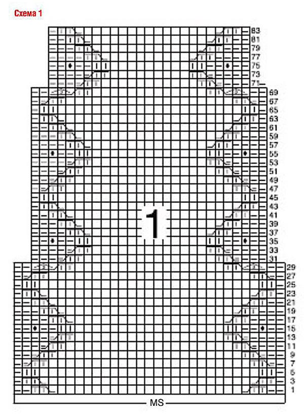 Вязаной платье спицами с узором из шишечек и аранов схема вязания спицами
