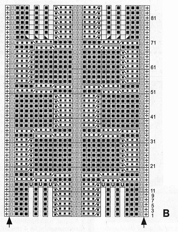 Уютный плед спицами схема вязания с подробным описанием