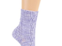 Носки спицами с растительным узором схема вязания спицами