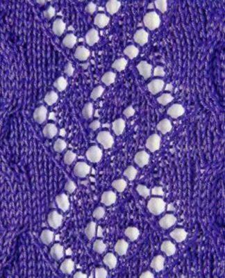 Ажурный узор спицами с ромбами схема вязания