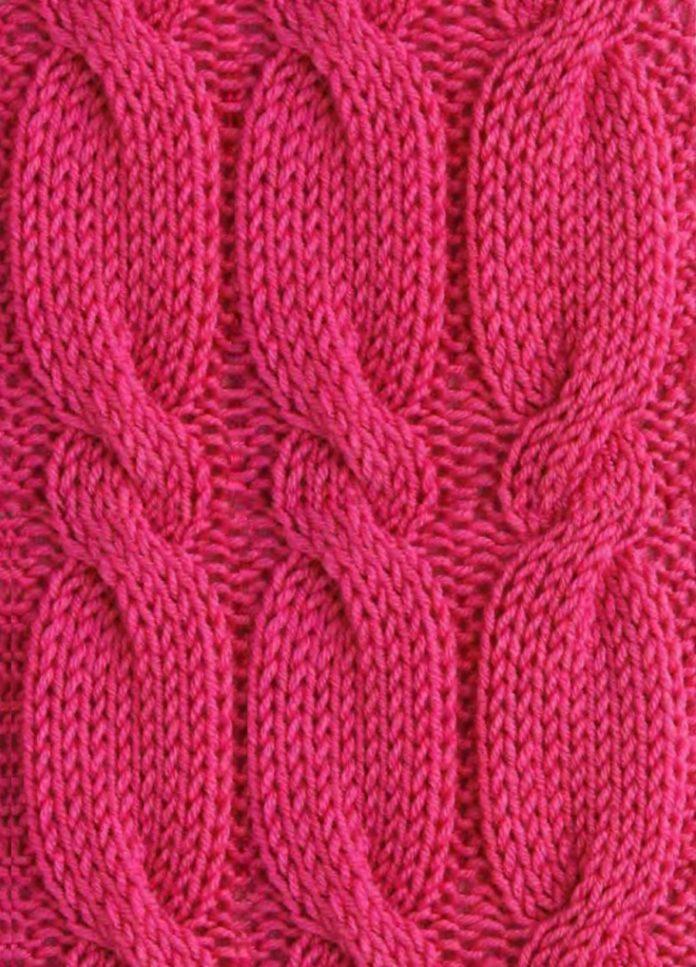 Схема вязания узора косы №1